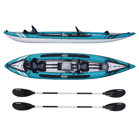 Driftsun Almanor 146 Two Adult Plus one Child Inflatable Recreational Touring Kayak