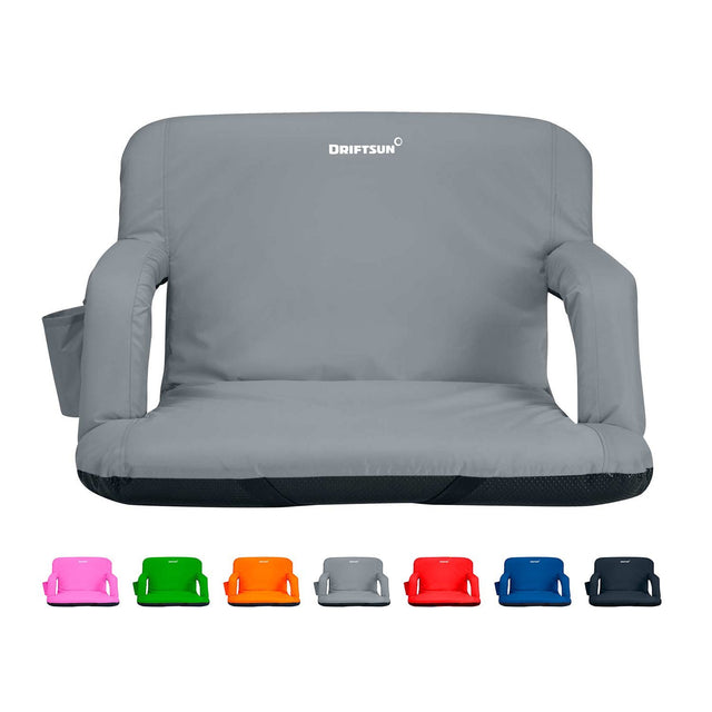 Padded Folding Reclining Back Bleacher Seat Stadium Chair