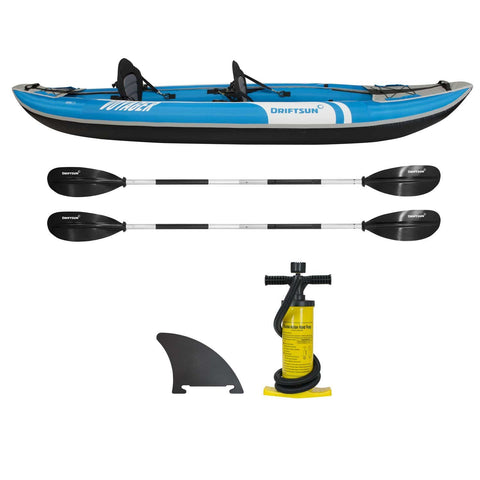 Complete set profile of Voyager 2 Person Inflatable Kayak