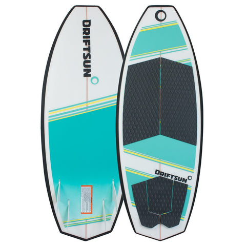Front and Back view of Throwdown Wakesurf Board