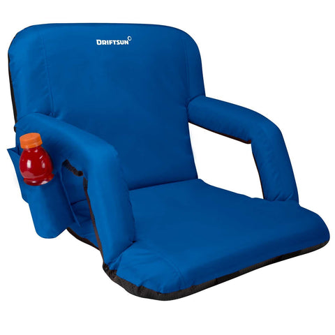 Regular sized adjustable stadium chair - blue