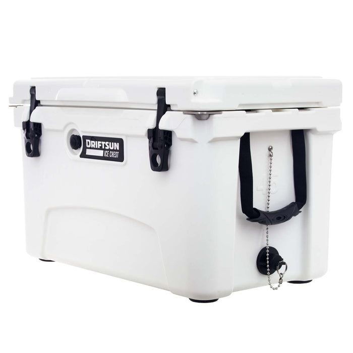 side and front view of driftsun 45 quart ice chest