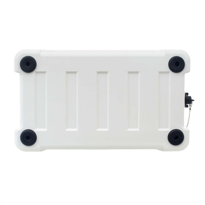 base of white cooler with non slip traction feet