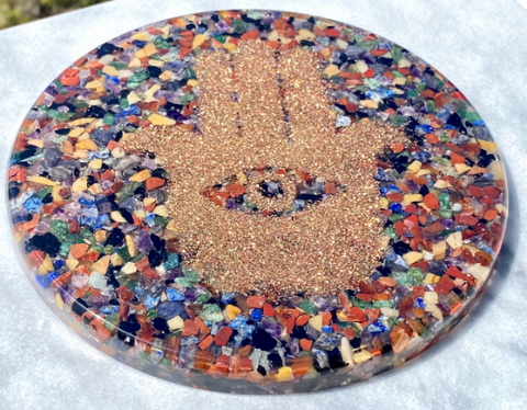 Image of Jumbo Chakra Orgonite Charging Plate