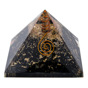 LARGE Black Tourmaline Orgone Crystal Pyramid