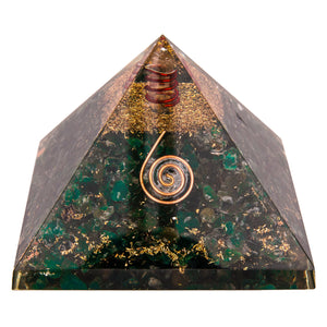 Green Mica Orgone Crystal Pyramid