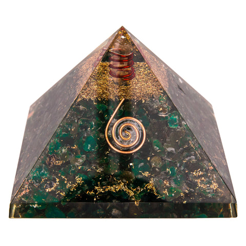 Image of Green Mica Orgone Crystal Pyramid