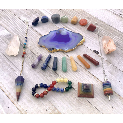 Image of 21 Piece Chakra Crystal Healing Set