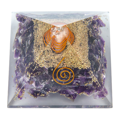 Image of Mini Amethyst Orgone Crystal Pyramid