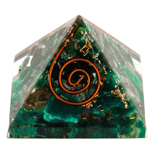Mini Green Mica Orgone Crystal Pyramid