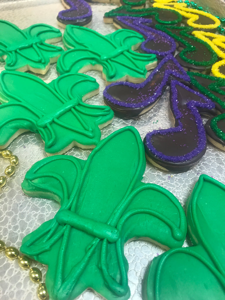 Music Note & Fleur de Lis Cookie