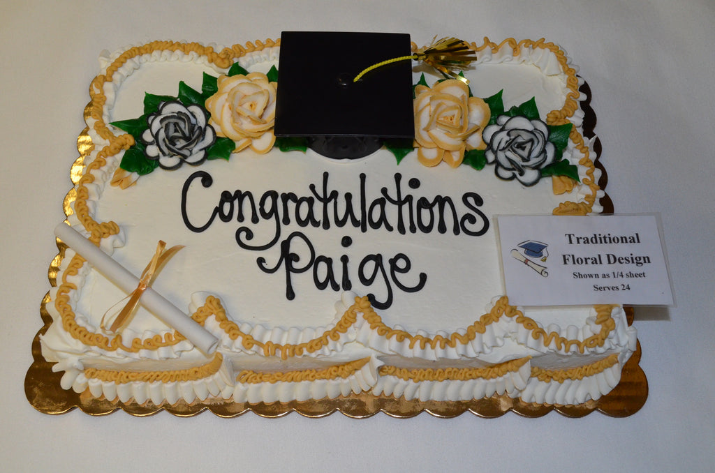 Traditional Floral Grad Cake