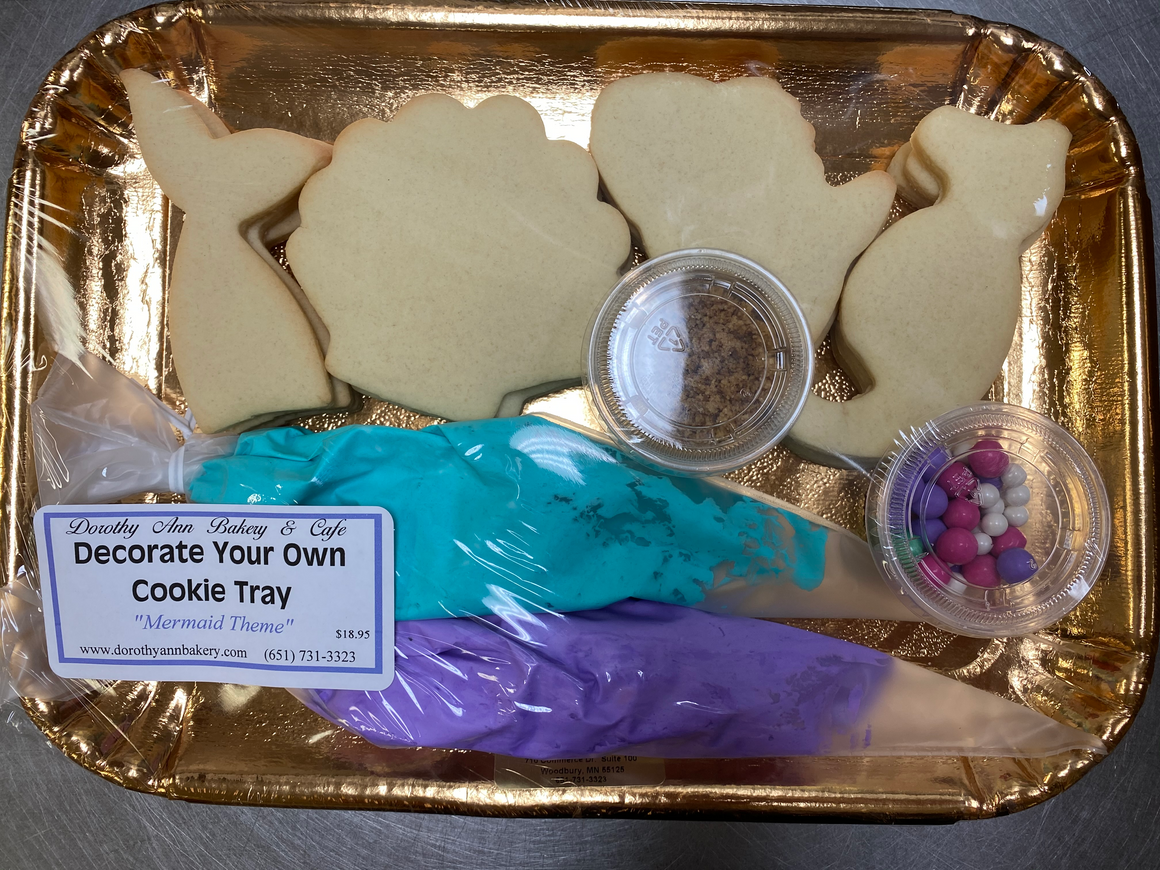 Decorate Your Own Cookie Tray- Mermaid Theme