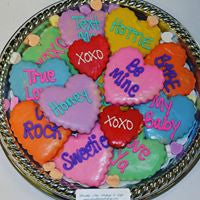 Conversation Heart Cookie Tray
