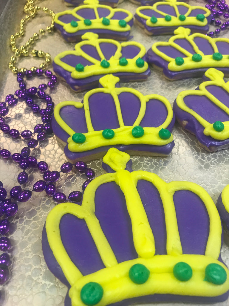 Mardi Gras Purple Crown Cookie