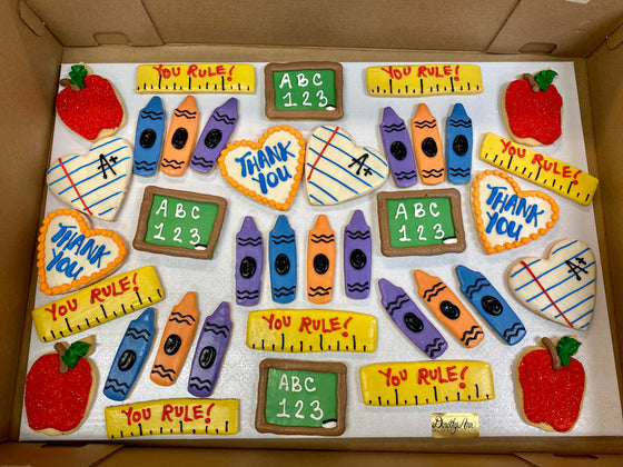 Teacher Appreciation Thank You Large Cookie Box