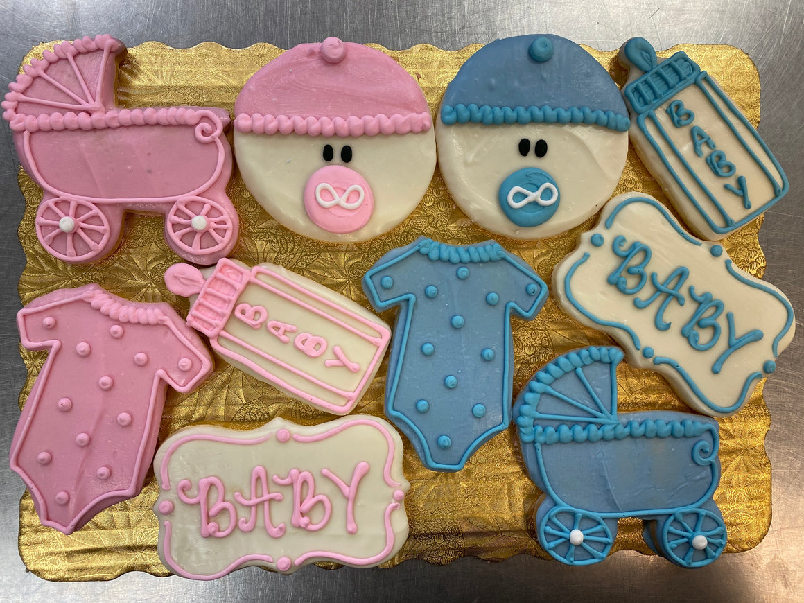 Baby Theme Decorated Cookies
