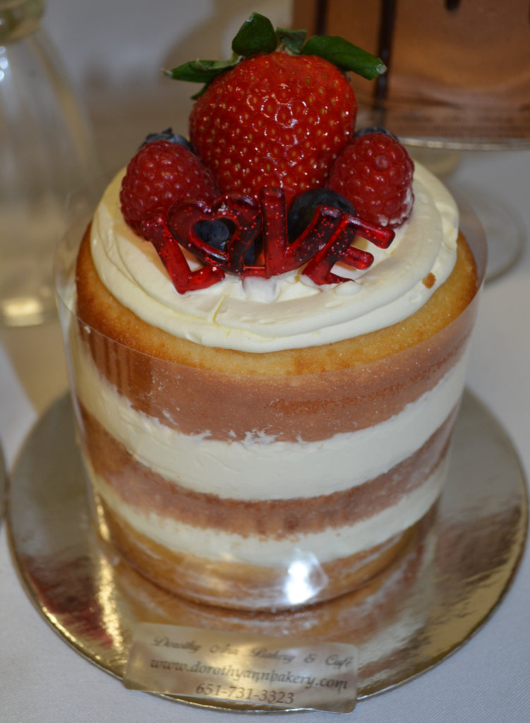 "Fresh Fruit Naked 4"" Torte"