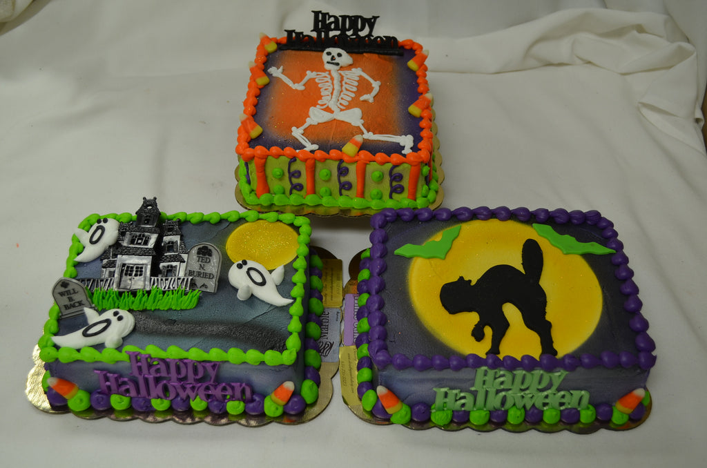 Halloween Sheet Cakes