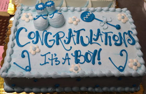 Baby Bootie Shower Cake