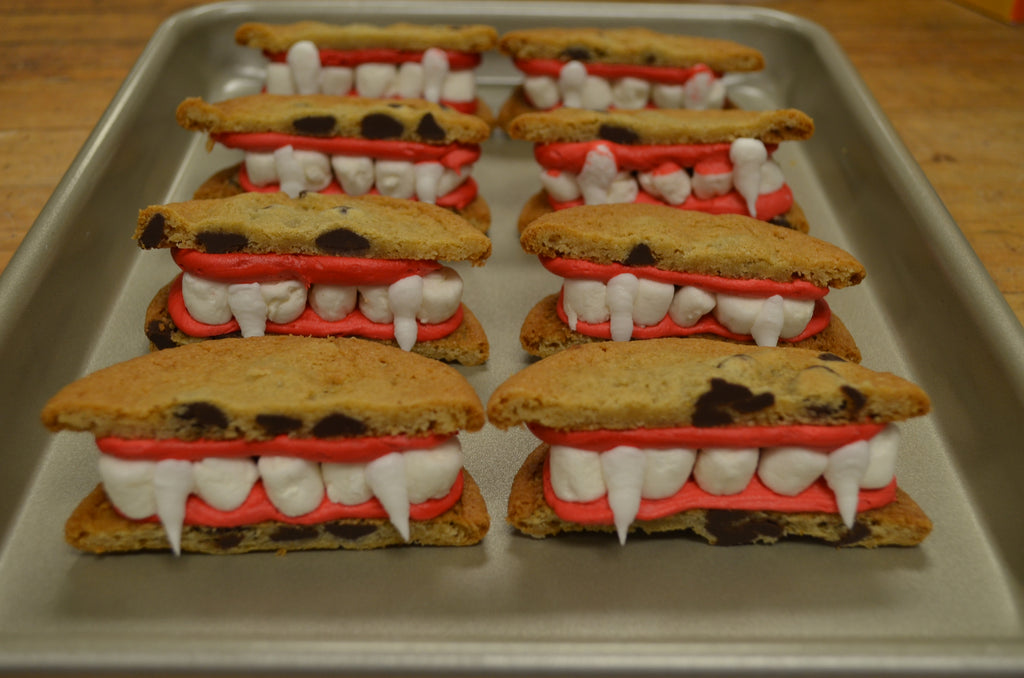 Dracula Teeth Chocolate Chip Cookies