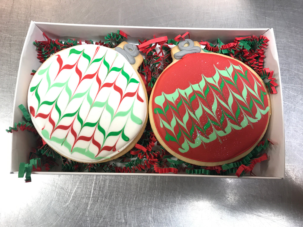 Decorated Ornament Cookie Gift Box