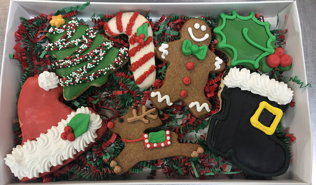 Jolly Christmas Gift Cookie Box
