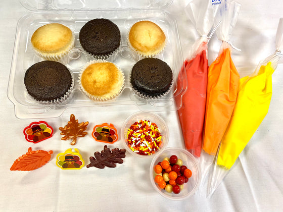 Decorate Your Own Thanksgiving Cupcakes