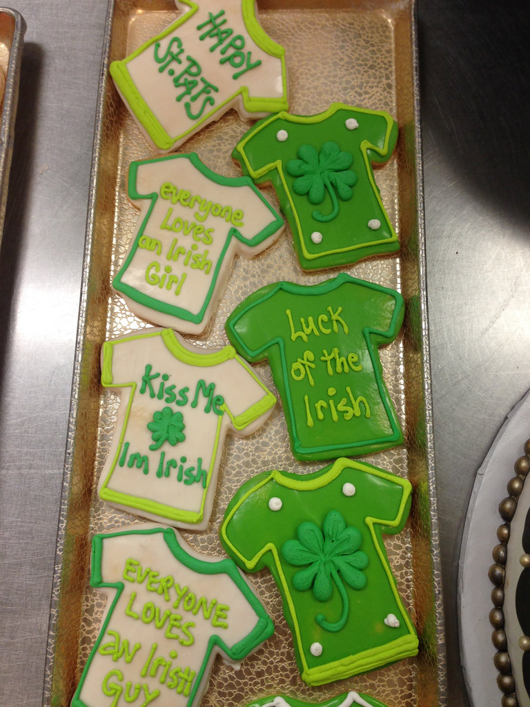 T-Shirt St Patricks Day Cookies
