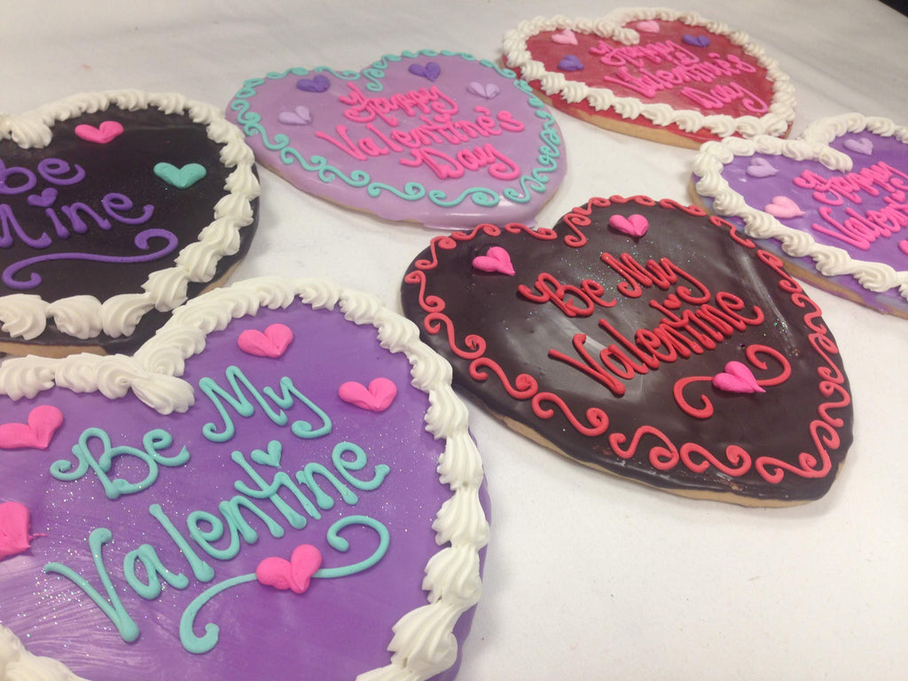 Jumbo Decorated Heart Cookie