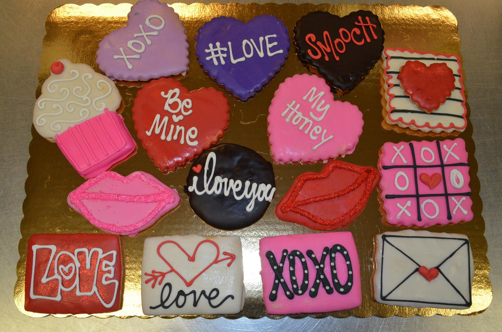 Valentine Decorated Cookies