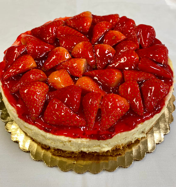 "8"" Fresh Strawbery Cheesecake"