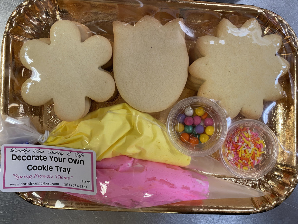 Decorate Your Own Cookie Tray- Spring Flowers Theme
