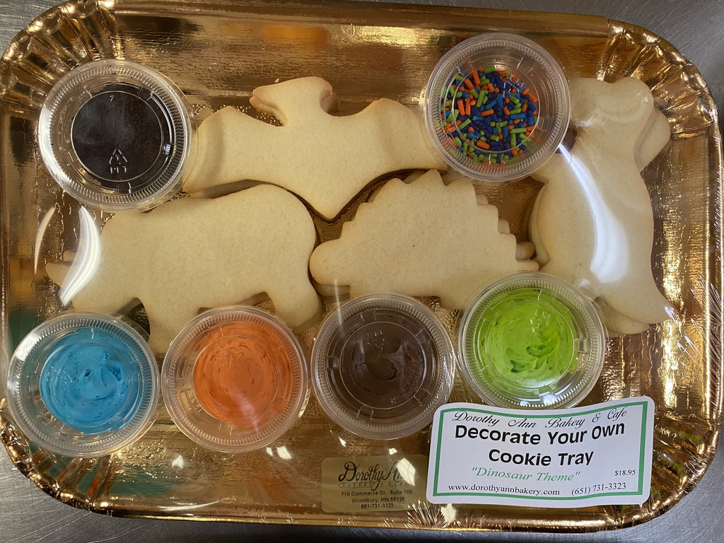Decorate Your Own Cookie Tray- Dinosaur Theme