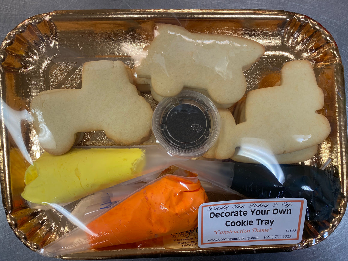 Decorate Your Own Cookie Tray- Construction Theme