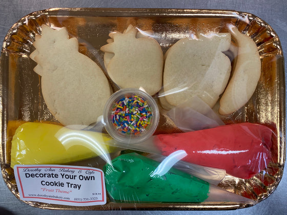 Decorate Your Own Cookie Tray Fruit Theme