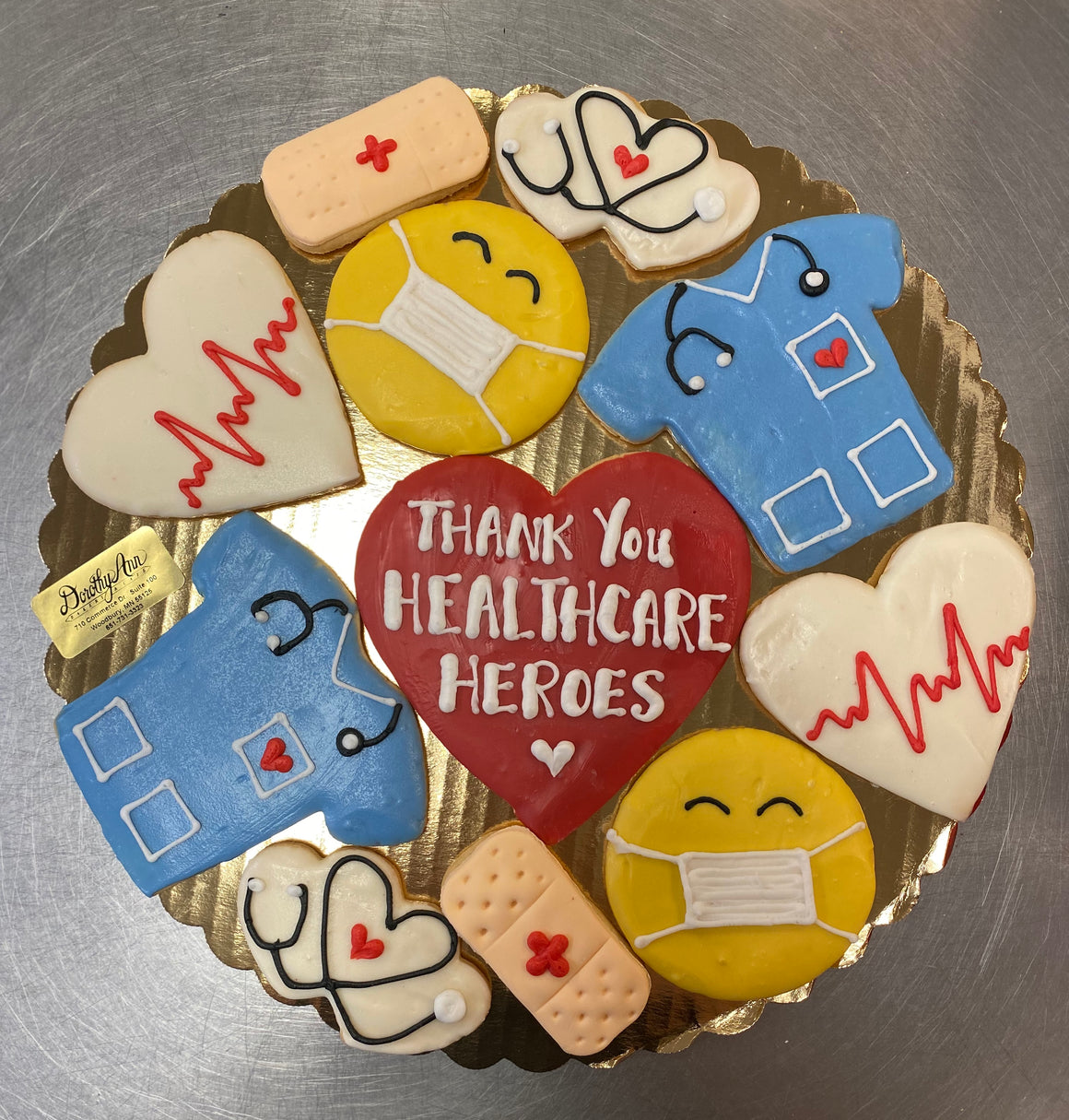 Healthcare Hero Decorated Cookie Box