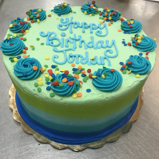 Smear Frosted Special Occasion Cake