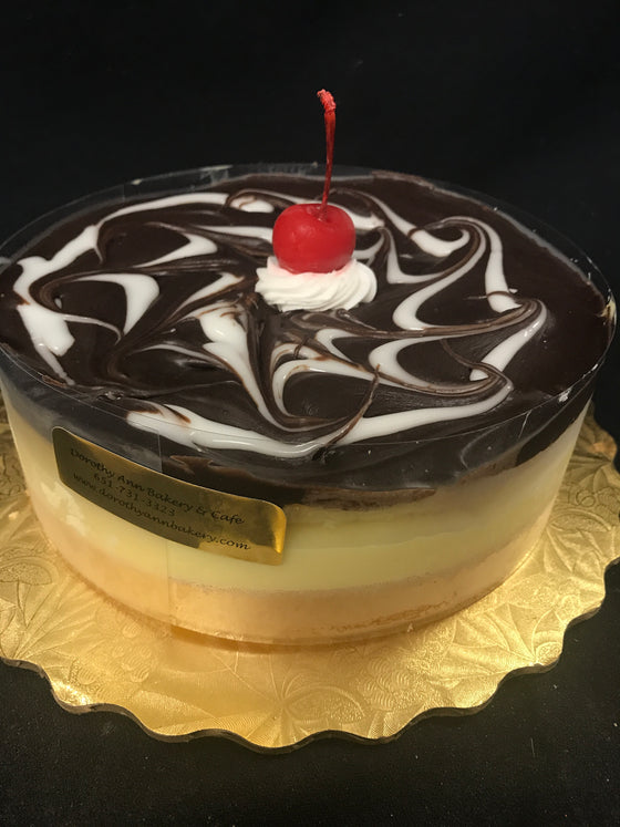 "7"" Gluten Friendly Boston Creme Pie"