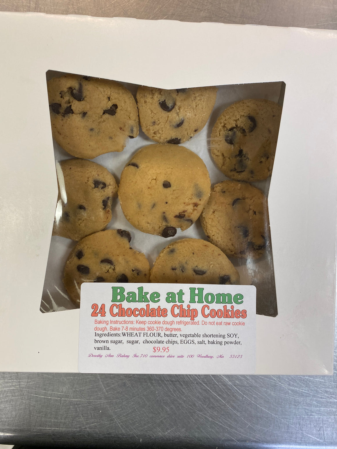 Bake at Home Chocolate Chip Cookies