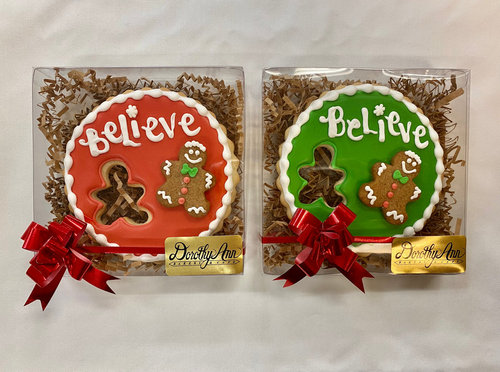 Believe Gift Cookie Box