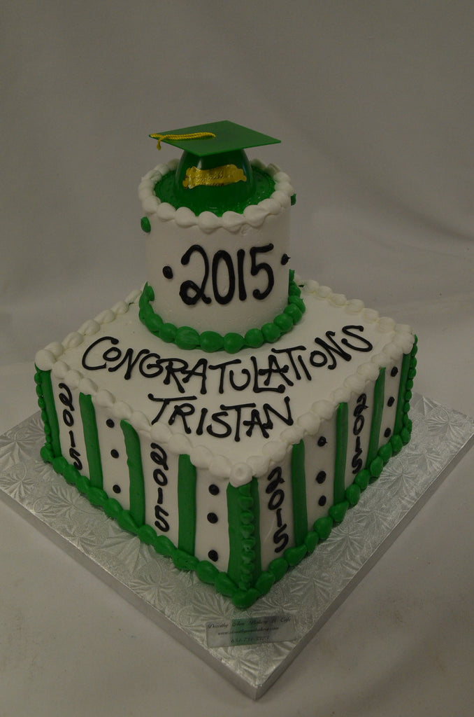 "Centerpiece Graduation Cake 8-4"" (Serves 25-30)"