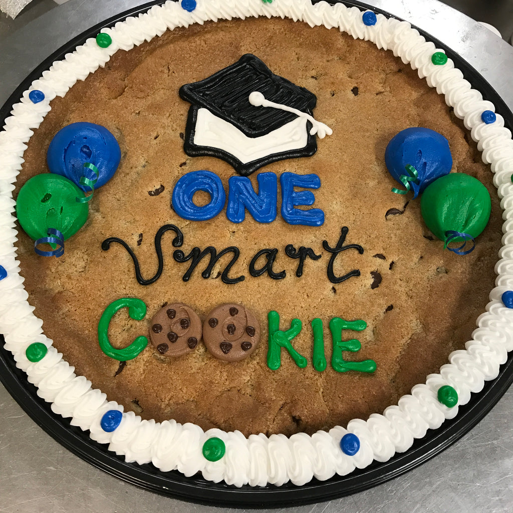 "Chocolate Chip Cookie Cake ""One Smart Cookie"" Graduation Design"