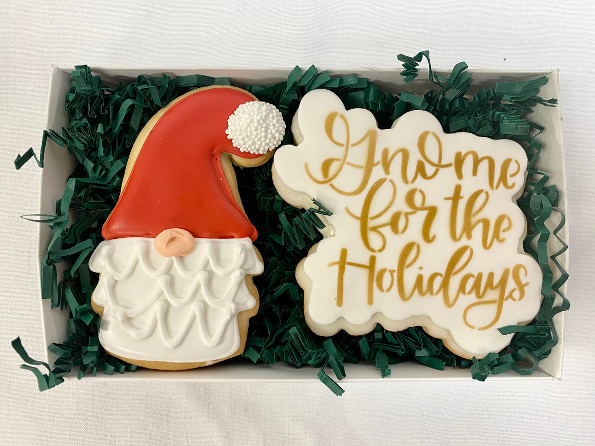 Gnome for the Holidays Gift Cookie Box - Small