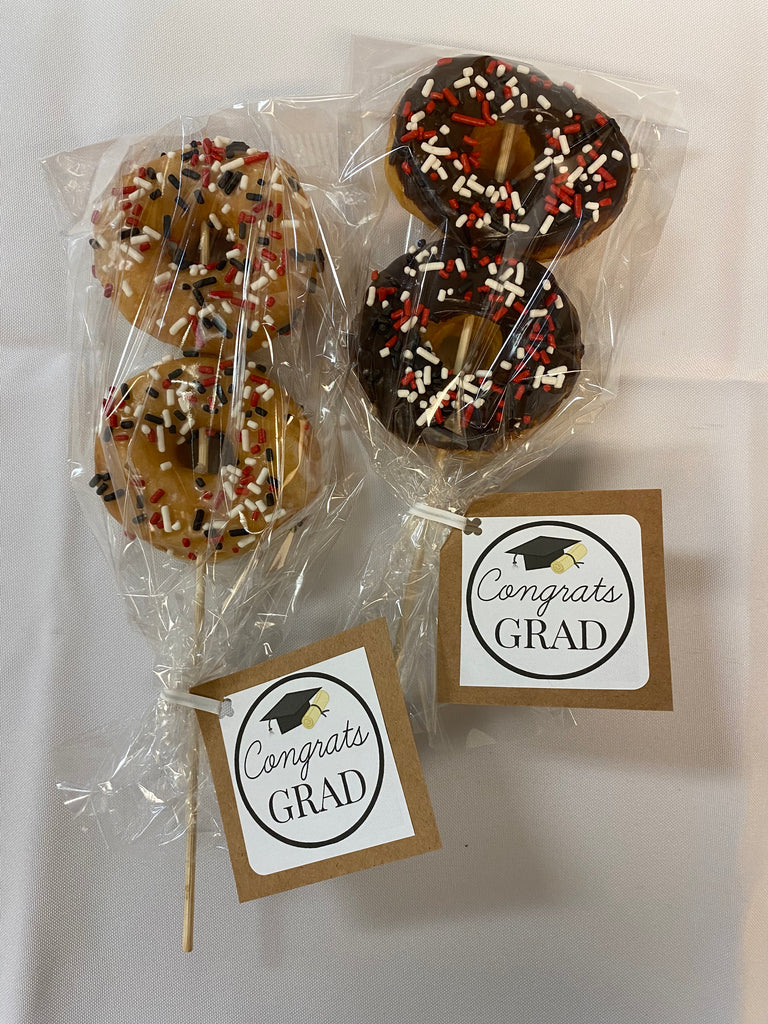 Graduation Party Packaged Mini Donuts (Quantity 6)