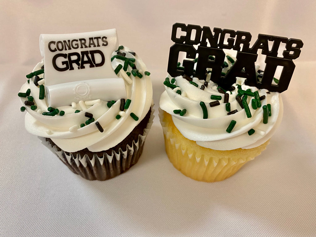 Graduation Party Packaged Cupcakes Congrats Grad Design