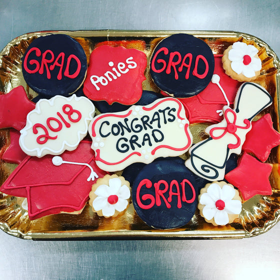 Decorated Graduation Cookie Tray