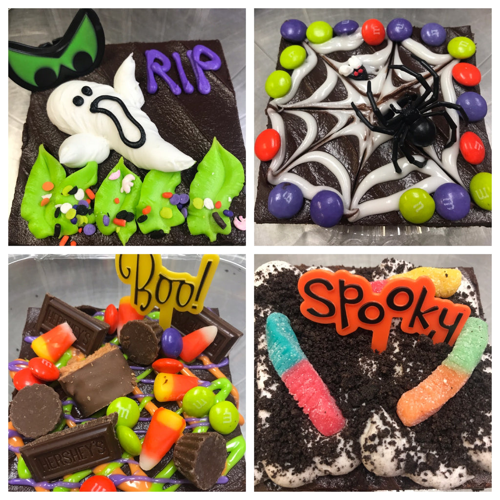 Jumbo Halloween Brownie 4x4""