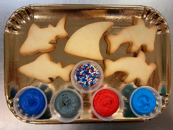 Decorate Your Own Cookie Tray Shark Week Theme