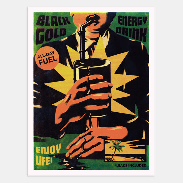 Black Gold Screen-Print Poster